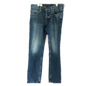 Hollister slim straight 30x30 jeans button fly
